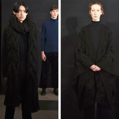 """Our collection at London Fashion Week Men's (Jan featuring hand knitted pieces from our """"Black Sheep"""" range. Made from British black sheeps fleece, each piece took over 100 hours to create. London Fashion Week Mens, Jan 2017, Black Sheep, Aw17, Hand Knitting, British, England, Range, Create"""