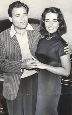 Elizabeth Taylor and Mike Todd  her first true love..  he died, so sad