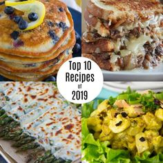 Portable lemon blueberry pancake puffs drenched in a cream cheese icing makes for a yummy weekend breakfast treat! Beef Neck Bones, Lemon Blueberry Pancakes, Boiled Vegetables, Apple Dump Cakes, Roasted Beets, Roasted Shrimp, Grilled Sandwich, Goat Cheese Salad, Toasted Almonds