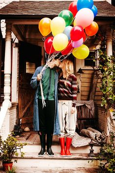 A bunch of balloons can be a fun photo prop for all sorts of photos!