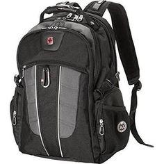 d5b913cd85 swiss travel gear smartscan backpack gray Laptop Backpack