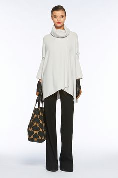 Love this silhouette. DVF Alhiga wool + cashmere sweater