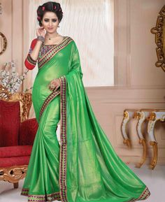 Buy Good Looking Green Casual Saree online at  https://www.a1designerwear.com/good-looking-green-casual-sarees-14  Price: $27.71 USD