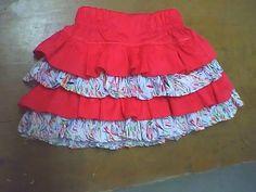 falda con volantes para niñas