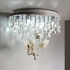 European style crystal ceiling light simple bedroom restaurant aisle balcony living room lighting Resin ceiling lamps ZA SJ31 #Affiliate
