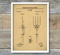 Pitchfork Patent Print, Patent Art Print, Farmhouse, Equipment, Farming Patent Poster, Farmer Art, Pitchfork Print, Farm Decor, P489 by NeueStudioArtPrints on Etsy