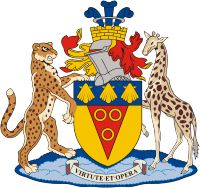 World Civic Heraldry - web guide for national, regional and urban heraldry worldwide. Grahamstown (South Africa), coat of arms When I Was Born, National Art, Ex Libris, Crests, Art Festival, Coat Of Arms, South Africa, Disney Characters, Fictional Characters