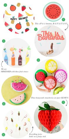 Party Trends: Fruit Themed Parties   The Sweet Lulu Blog