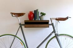 Talk about some classy bike storage. Whether you live with a cyclist who has bikes…everywhere…or you just know someone who needs clever storage for theirs, you can't go wrong with the decorative storage solution from Mission Bicycle Company that has been featured in design blogs everywhere in recent years. It doubles as a shelf and gets the bike up, off the floor, and away from the wall to avoid causing trouble. Ooo what sophisticated storage solutions you have. From the MapMyRide Gift Guide
