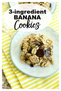 All you need are three simple ingredients and 15 minutes to have these delicious Banana Cookies ready to go! They make a great healthy treat and could not be easier to make! Healthy Vegan Snacks, Healthy Foods To Eat, Vegan Recipes, Snack Recipes, Happy Healthy, Eating Healthy, Delicious Recipes, Free Recipes, Healthy Breakfasts