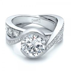 Custom Interlocking Diamond Engagement Ring | Joseph Jewelry | Bellevue | Seattle | Online | Design Your Own Ring