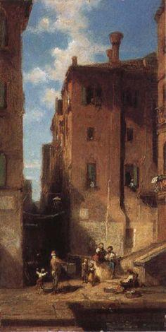 Street in Venice, Carl Spitzweg
