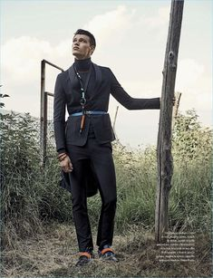 The Searcher: Filip Hrivnak Models Prada's Spring Fashions for GQ Italia