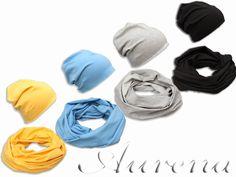 komplety dresowe czapka komin z bawełny, beanie, czapka typu krasnal. Produkt polski AURENA