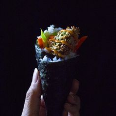 Crunchy Avocado Sushi Hand Rolls With An Easy Sriracha Mayo