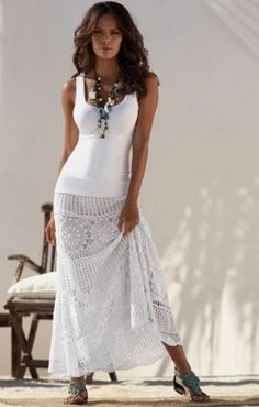 Crochet skirt...  Falda a crochet...