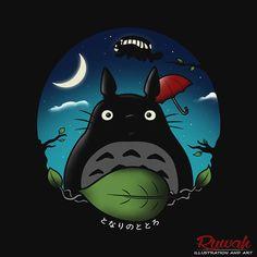 Todas las noches vecino camiseta Totoro por LimitBreaks en Etsy