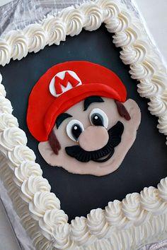 Super Mario- cake Super Mario Cake, Goodies, Desserts, Food, Sweet Like Candy, Treats, Deserts, Good Stocking Stuffers, Dessert