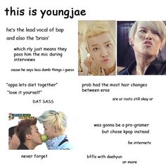 Guide to BAP youngjae... Dat sass tho.. >.~