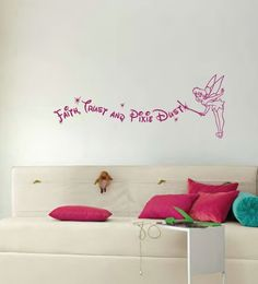 Disney Tinkerbell Faith Trust and Pixie Dust Quote.