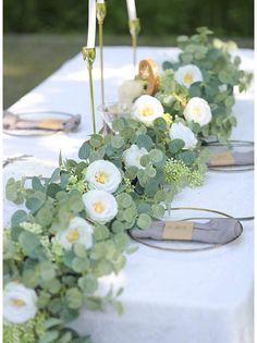 Tropical Wedding Decor, Garden Wedding Decorations, Garland Wedding, Floral Wedding, Wedding Greenery, Wedding Reception Flowers, Green Wedding, Wedding Flower Backdrop, Wedding Ideas