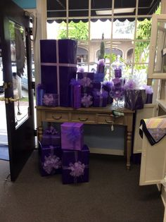 Purple packages for Paint the Town Purple! Celebrate more Birthdays.
