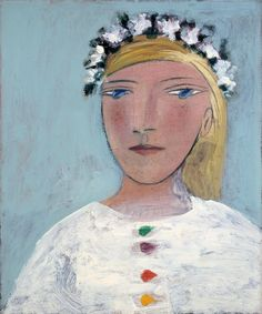 Pablo Picasso - Marie-Therese a la guirlande, 1937, oil and pencil on canvas, 55 x 46 cm