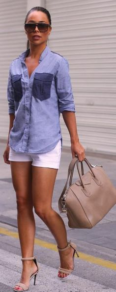 Very cute look for Lucerne. Possibly with cropped white jeans, tan flats, or brown wedged heel?