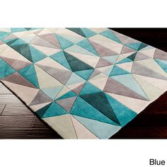$508 Hand-tufted Contemporary Geometric Rug (8' x 11')