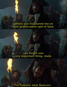 I'm Captain Jack Sparrow!