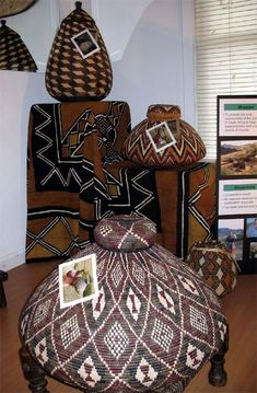 African Zulu Baskets ~ Ethnic Home African Interior, African Home Decor, Zulu, African Furniture, Afrique Art, African Crafts, African Design, Ethnic Design, African Fabric