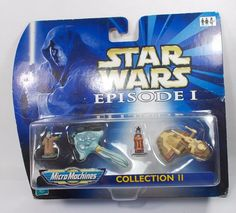 Star Wars - Episode I - Collection II - Micro Machines - Galoob Star Wars Episodes, Classic Toys, For Stars, Ebay, Collection