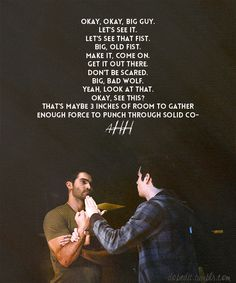 Teen Wolf, 3x02- Chaos Rising Derek and Stiles gif