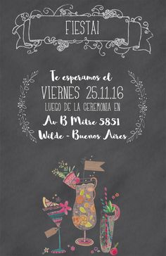 Tarjetas de casamiento – Florencia Rezzano Desings Quote Art, Art Quotes, Chalkboard Quotes, Florence, Cards, Party