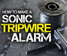 In this Instructable, I'll show you how to make a simple sonic tripwire alarm that you can use at airsoft games or as an early-warning system for preppers. DIFFICULTY: MODERATE Here's what you'll need : - A cheap alarm clock that beeps, just like this one (see picture above or video below). Braided fishing line, nylon fishing line or upholstery thread. An old credit card or gift card. A short length of thin electrical wire. A piece of tin foil Electrical tape A clothes peg made of plastic or…
