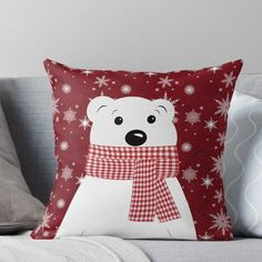 This kind of christmas quilts is seriously a striking style principle. This kind of christmas quilts is seriously a striking style principle. Diy Throw Pillows, Diy Pillow Covers, Designer Throw Pillows, Decorative Pillows, Christmas Applique, Christmas Sewing, Christmas Crafts, Polar Bear Christmas Decorations, Xmas Decorations