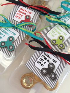 Fidget Spinner Thank You Tags Digital Download Party Favors Fidget Spinner Party