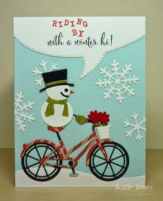Everyone Loves a Snowman Riding a Bike!
