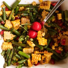 Apron and Sneakers - Cooking & Traveling in Italy and Beyond: Cherry, Asparagus & Corn Salad
