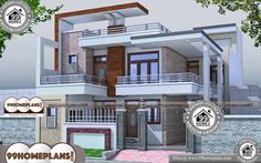House Design 30 X 60 Best 2 Storey Homes Design Modern Collections 2 Story House Design, Duplex House Plans, Bungalow House Design, House Front Design, Modern House Plans, Four Bedroom House Plans, Family House Plans, Best Modern House Design, Cool House Designs