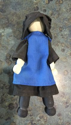 Jointed Amish Girl Clothespin Dollhouse Doll