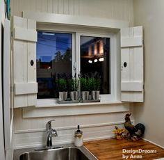 Build Shutters For Kitchen Window? Easy To Keep Clean.