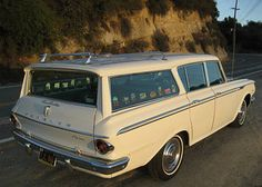 Rambler Station Wagon - My First Car:  the horn didn't work, so my dad made a button and put it in the middle of the dashboard.