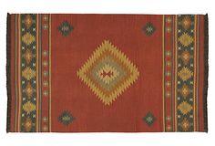 5'x8' May Flat-Weave Rug, Red Clay on OneKingsLane.com