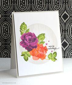 Altenew Vintage Flowers Floral Card by Kristina Werner