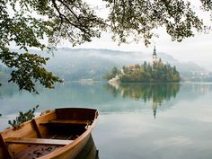 Lake Bled, Slovenia - With emerald waters, views of the Julien Alps, and a fairy-tale church on an island, there's a reason Lake Bled is one of Slovenia's most popular sites.