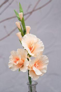 Tige de papier crépon Gladiolus fleur 18 pouces par DiddleBug …