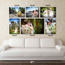 Best Wedding Pictures Display At Home Canvas Prints Ideas. Best Wedding Pictures Display At Home Canvas Prints Ideas. Canvas Groupings, Ideas Paneles, Wall Ideas, Decor Ideas, Wedding Picture Walls, Wedding Canvas, Wedding Wall, Canvas Display, Above Couch