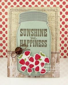 """I created this card using the Unity Stamp Co set """"Jar of Sunshine""""."""