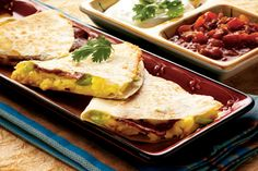 bacon and egg quesidillas - will make again!!